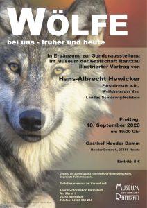 Wölfe - bei uns - früher und heute @ Gasthof Heeder Damm
